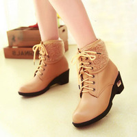 New Arrival Boots for Women 2014 Wintter Fashion Boots Wedges Winter Boots Plus Size Shoes 34-43 Sweet Free Shipping