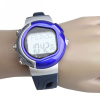 Chest strap Pedometer Calories Heart Rate Watch with LCD Monitor Distance Measure Clock Memory Mode Stopwatch