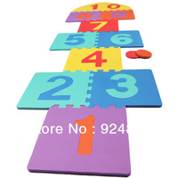 multi-colored eco-friendly puzzle foam mats,digital baby puzzle eva,boy girl plane game toy,32x32x1cm,free shipping 101