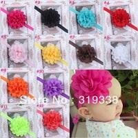 Girl's Head Accessories hairband Baby Headband flower princess headband elastic flower hairband 10pcs HB134