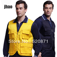 Men's clothing hunting vest work wear fishing vest  multi-color available custom accepted free shipping