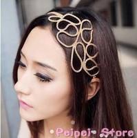 Min order $10 Hot new fashion 2015 European style Openwork ribbon gold corn Hairbands head hoop hair accessories for women