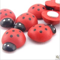 100pcs/lot Wholesale Korean Countryside Baby Wooden Wedding Stationery Ladybug Ladybird Sponge Decoration Sticker