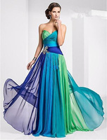 free shipping 2014 maxi dress Strapless Sweetheart Floor-length Crystal Pleat Bead Ruchi Chiffon Evening long dresses for party