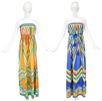 Aztec Plus size women fashion trend - national bohemia slim waist chiffon clothing palazoo