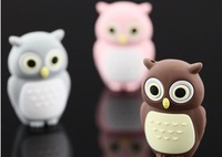 Novel lovely Owl USB Flash Pen Drive 4GB 8GB 16GB 32GB Free Shipping (Assorted Color)