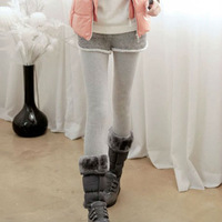 New Arrival Fashion Casual Women Two-piece Short Pants & Lenggings Solid Thicken Plus Velvet Slim Fit For Winter WL014T
