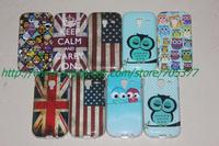 Cartoon Cute Owl keep calm uk usa falg design Hard Back Cover Case for Samsung Galaxy Ace 2 case Galaxy Ace 2  i8160 cover