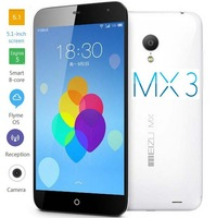MEIZU MX3 Single SIM WCDMA/GSM Mobile Phone Dual Quad Core 16GB/32G/64G Flyme3.0 Bar 5.1 Inches IPS Smartphone With NFC Function