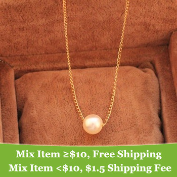 Fashion simple pearl necklace wholesale Jewelry ! cRYSTAL sHOP