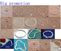 A01 // Big promotion popular Free shipping hot sale Bracelets Chain, wholesale fashion 925 jewelry silver plated Bangle Bracelet