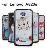 2013 Hot selling High Quality Multiple Pattern Optional Phone Cover Case For Lenovo a820e Phone Thin PC shell Free Shipping