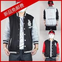La yanks lovers hiphop cardigan hip-hop outerwear mlb baseball shirt baseball uniform hiphop sweatshirt