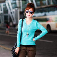 2013 Ruili wild candy-colored essential V-neck sweater V-neck sweater bottoming C0806
