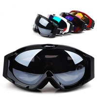 Parzin Polarized Skiing Mirror Spherical Double Layer Anti-fog Ski Goggles Skiing Eyewear Black Red