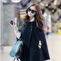 2013 autumn women outerwear wool cloak wool coat large woolen outerwear female cape 1228