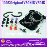 100%Original  VSONIC VSD1  VSD1S High Fidelity Professional Quality Stereo Inner-Ear Earphones Earbuds+Foam Tips
