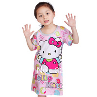 100% cotton Hello Kitty Mickey Mouse,Kawayi Bird,Snow White Nightgowns for Girls Gift sleepwear