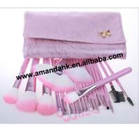 20set/lot  New arrival 22 PCS Professional Makeup Cosmetic Brush set Kit Case  Alishow Wholesale Free Shipping
