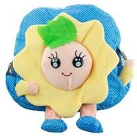 2014 Real free Shipping Kawaii Big Face Sunflower Size 25*24*6cm Plush Children Baby Kid's Backpack Pack Bag School Kindergarten