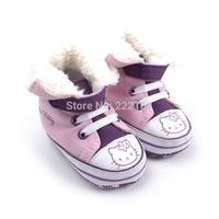 2014 Pink/purple patchwork cute baby girls first walkers infant bebe toddler shoes cartoon cat fashion sneakers prewalkers sale