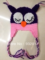 BABYcrochet children hat with ear animal baby cap animal crochet hat owl hat