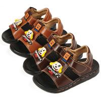 20-26 size 2014 summer Non-slip children's sandals baby boys leather PU sandals shoes fashion kids sandals