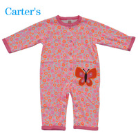 Free Shipping 2013 New Original Carter's Flower Romper, Kamacar Baby Long Sleeve Jumpsuit, Infant and Toddlers Overalls