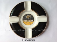 FREE SHIPPING Ceramic cigar ashtray/Cohiba round ashtray/ /gift
