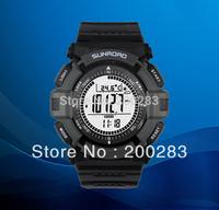 Free shipping Sunroad FR821A 3ATM Digital EL Backlit w/altimeter+barometer+compass+world time+stopwatch sport watch - Grey