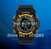 Free shipping Sunroad FR820B 3ATM Digital EL Backlit w/altimeter+barometer+compass+world time+stopwatch sport watch - yellow B