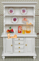 1/12 Dollhouse Miniature Furniture  Delicate 3 Layer Showcase/Cabinet with Drawers white color Free Shipping WL016C