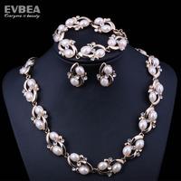 trendy jewelry pearl jewelry set  freshwater pearl necklace set crystal jewelry sets pearl necklace bracelet set natural 6-7mm