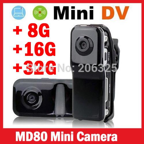 crazy Price!MD80+Bracket+Clip,Black Sports Video Camera Mini DVR Camera & Mini DV,wholesales md80 sports camera,md80 mini dv dvr(China (Mainland))
