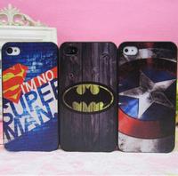 Cool Batman Superman Superheros Design Plastic Case For Iphone 5 5S,Captain America Case For Iphones.4 Designs,10pcs/lot