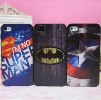 Cool Batman Superman Superheros Design Plastic Case For Iphone 5 5S,Captain America Case For Iphones.4 Designs,10pcs/lot