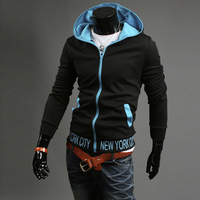 2014 spring Autumn and winter male fashionable casual sweatshirt ,unique slim fit sweatshirts hoodies,free shipping