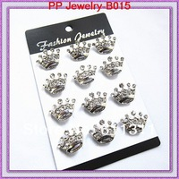 Wholesale Silver Plated Crystal Crown Brooch Pin,Wedding,Gift,Party
