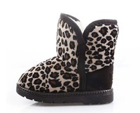 Free Shipping Retail New Style Baby Girls' Leopard Snow Boots Kids Warm Female Winter Shoes Childrens Fashion Cotton Footwear