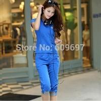 Plus Size L-4XL 5XL(bust 48 inch) 2014 New Spring Summer Casual Set  Fashion Cotton Woman Sportswear Clothing Free Ship xxxxxl