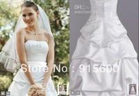 Wholesale - New Strapless Satin Pick Up Floor length Wedding Dresses