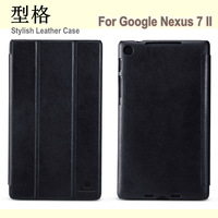 Original Nillkin Stylish Leather Series Flip Case for Google Nexus 7 2 II Generation 7inch Case, Screen Protector, Free Shipping