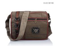 Trend vintage Canvas + skull 2013 Fashion men Messenger Bag,men shoulder bag,men canvas bag,men laptop bag free shipping
