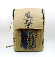 Shingeki no Kyojin Attack on Titan Scouting Legion Emblem Canvas Laptop Bag School Bag Travel Backpack