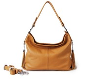 100% Genuine Leather Luxury Hobo Fashion Tassel Handbag Tote Bags Women Shoulder Bag Elegant women messenger bag1288