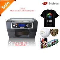 Free shipping Multi-purpose 6 colors A4 DTG T-shirt printer/digital flatbed printer/Epson Direct to Garment/Phone case printer