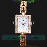 100pcs/lot JW-3445 Acrylic Material Ladies Bracelet Watch Factory Price Quartz Dress Watch Wrap Rose Gold Alloy Crystal Watch