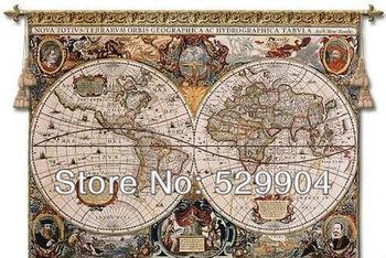 120 см X 85 см античная старый коричневый карта мира стены гобелен или живопись