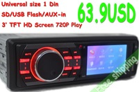 302B 3' TFT Screen Car Radio 1 Din USB SD Car MP4 Car MP5 Video Player 720P Vedio Multi-Format Car Audio Car MP5 Remote Control