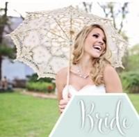 Ivory Old Fashion Shabby Chic Style Wedding Battenburg  Lace Parasol
